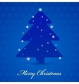 Merry Christmas vintage design greeting card vector image