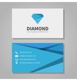 Diamond corporation business card template vector image vector image