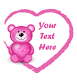 Valentines Bear vector image vector image