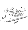 Merry Christmas beautiful letters banner design vector image vector image