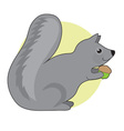 Squirrel and Nut vector image