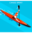 Kayak Sprint 2016 Summer Games Isometric 3D vector image
