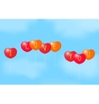 Balloons with a Declaration of love vector image