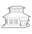 Big house icon outline style vector image