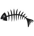 black fish bone vector image