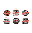black friday logo sale discount low price vector image