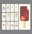 calendar 2018 ice cream set flat design dessert vector image