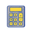 financial calculator to accounting business data vector image