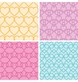 Four matching heart motives seamless patterns vector image