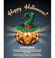 Halloween pumpkin poster vector image