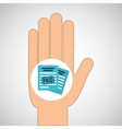 hand concept save money paid vector image