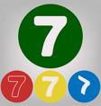 number 7 sign design template element 4 vector image
