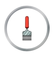 Uncapping fork icon in cartoon style isolated on vector image
