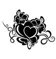 Valentine day floral design element vector image