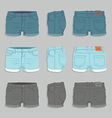 Women Denim Shorts vector image