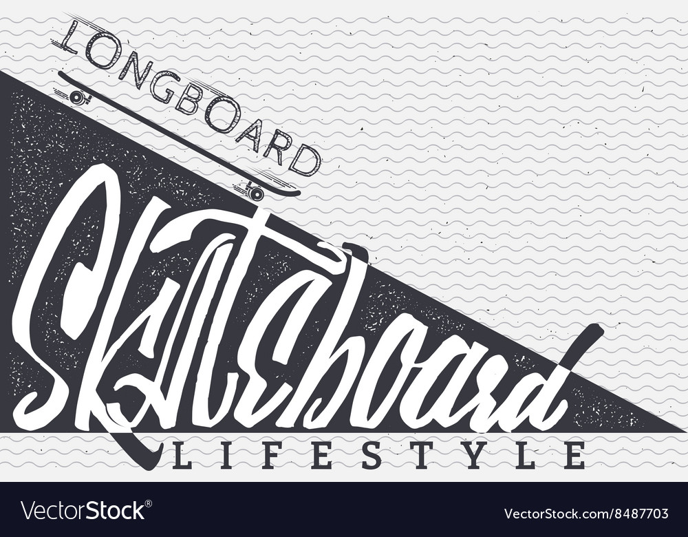 Skateboard  insignia badge label sign print vector