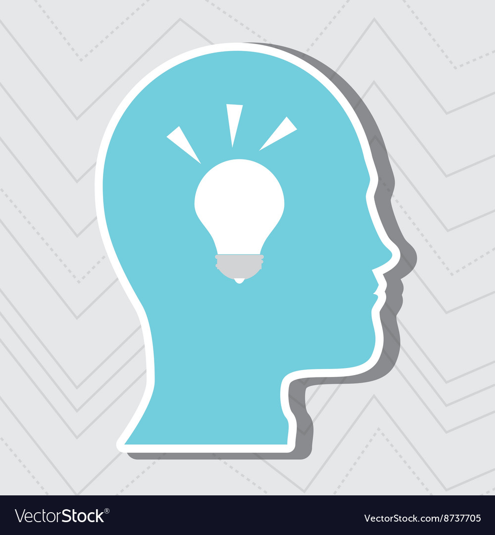 Person thinking design vector