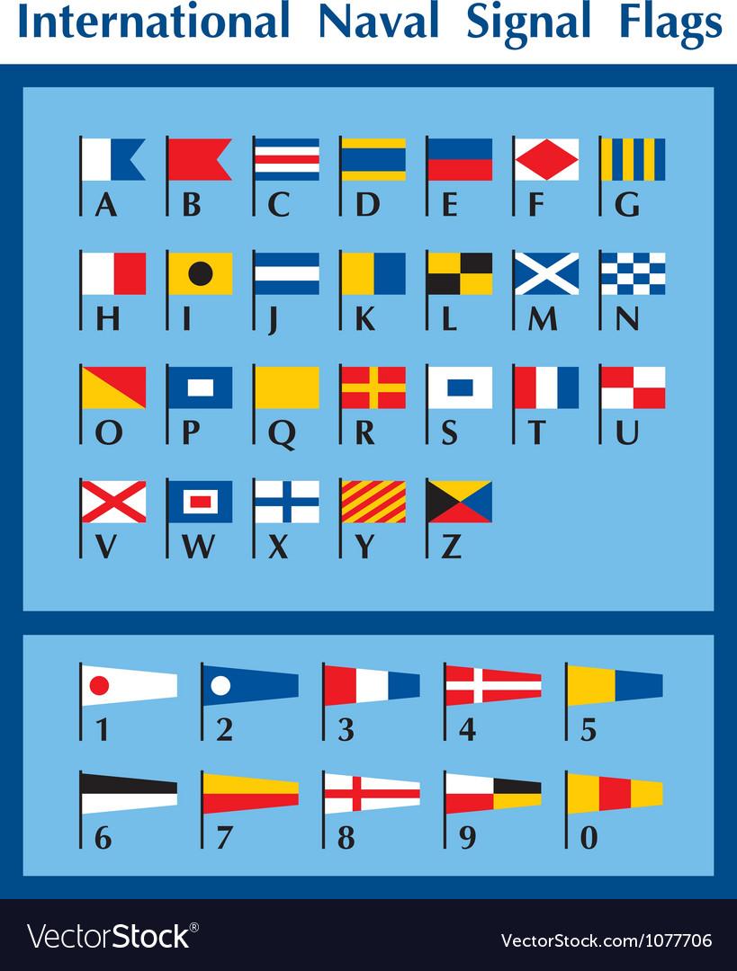 International naval signal flags vector
