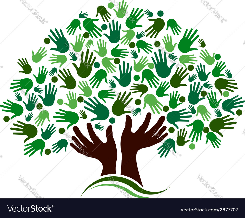 Friendship connection tree image vector