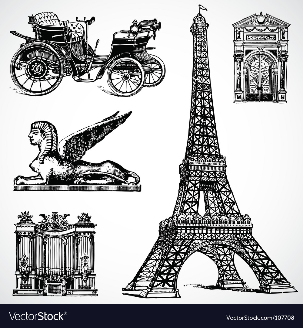 Retro historical graphics vector