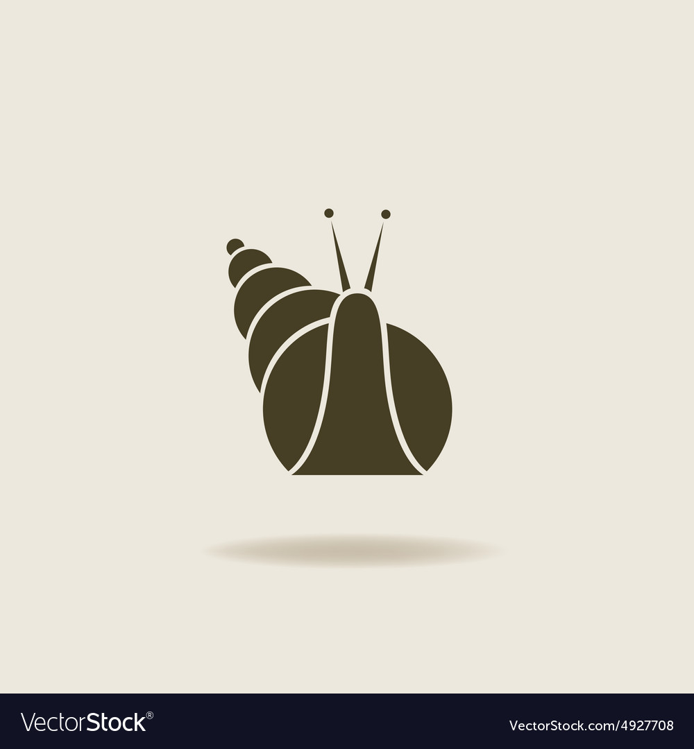 Stylized silhouette of a snail vector