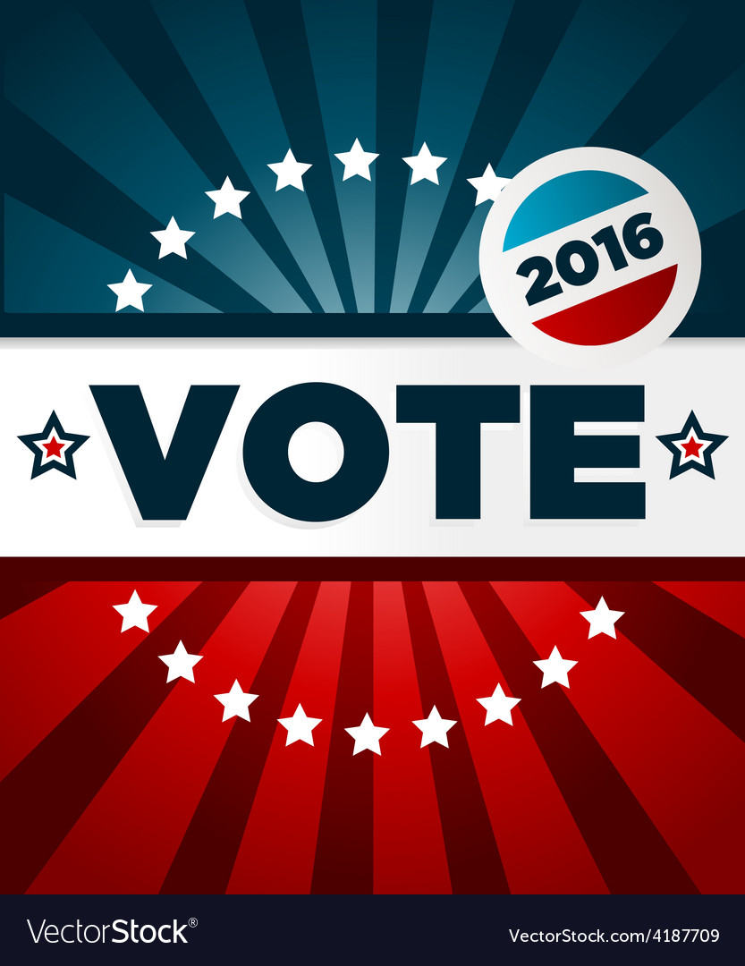 Patriotic 2016 voting poster vector