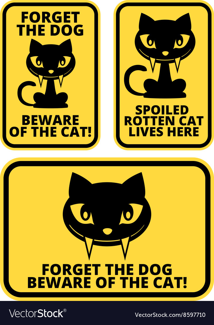 Cat sign vector