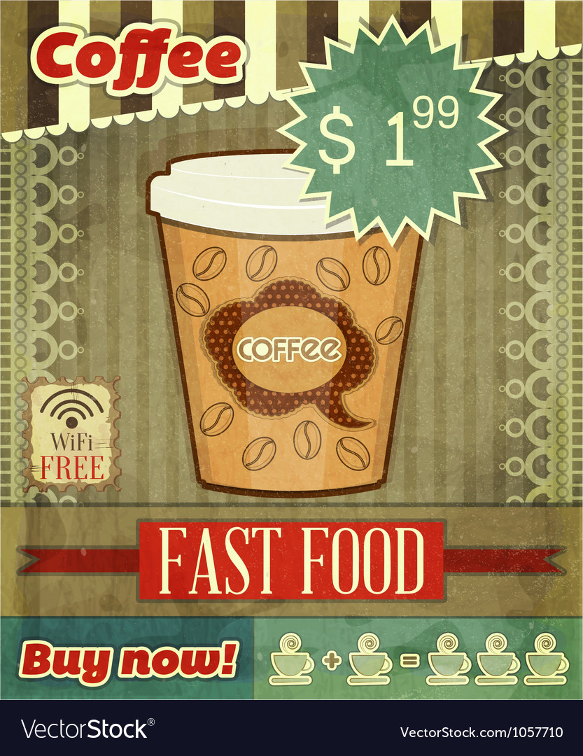 Cover for coffee menu vector