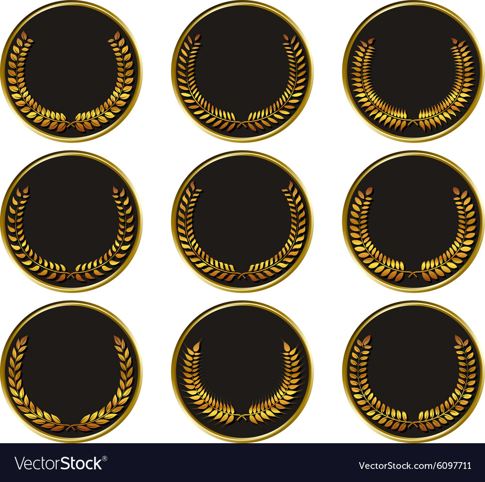 Black medal vector