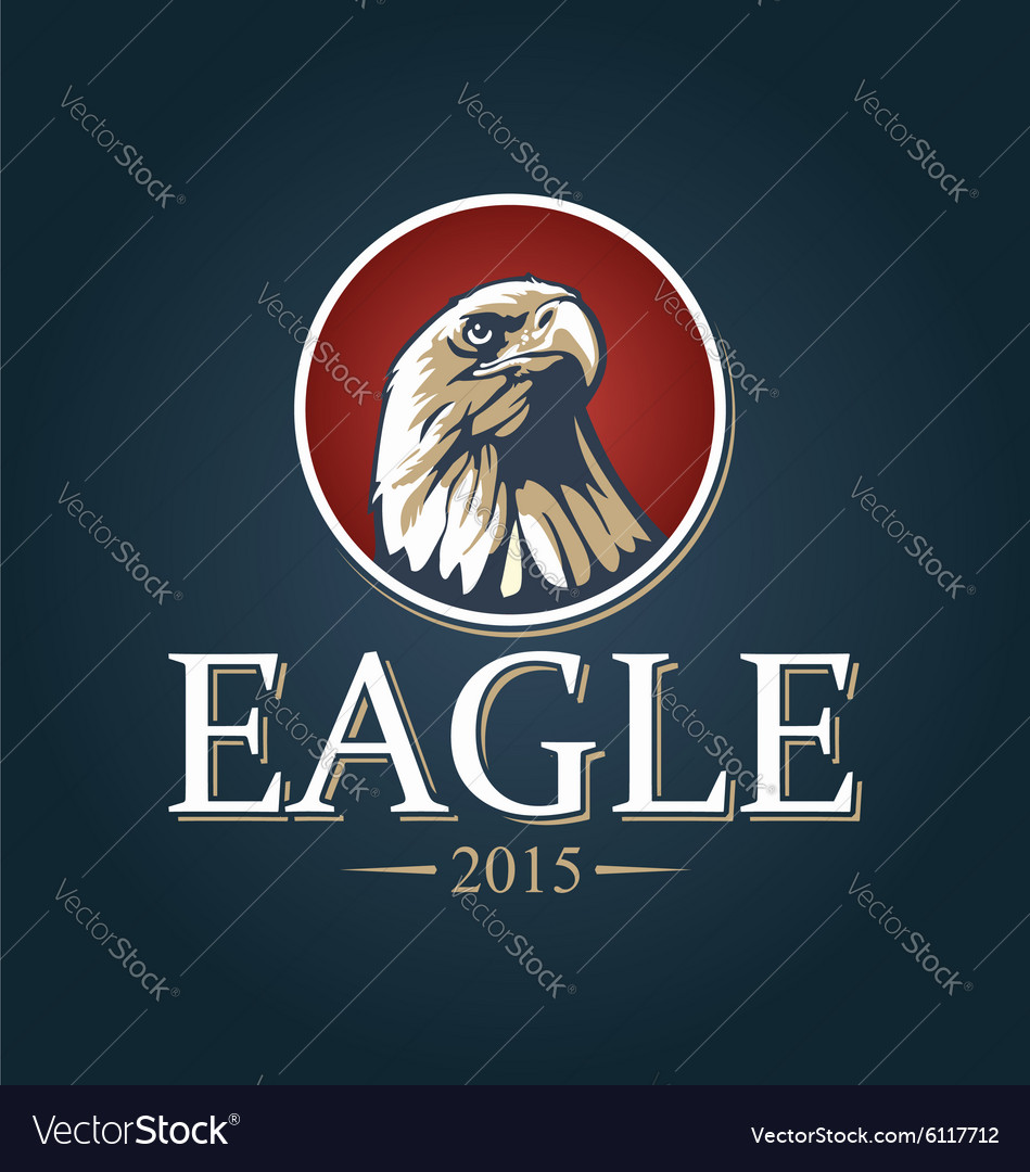 An eagle in a red circle vector