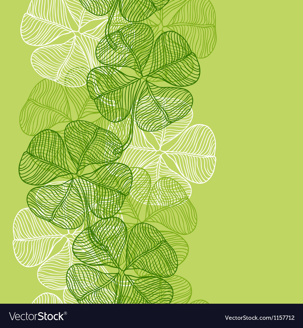 Seamless pattern with abstract clover leaves vector