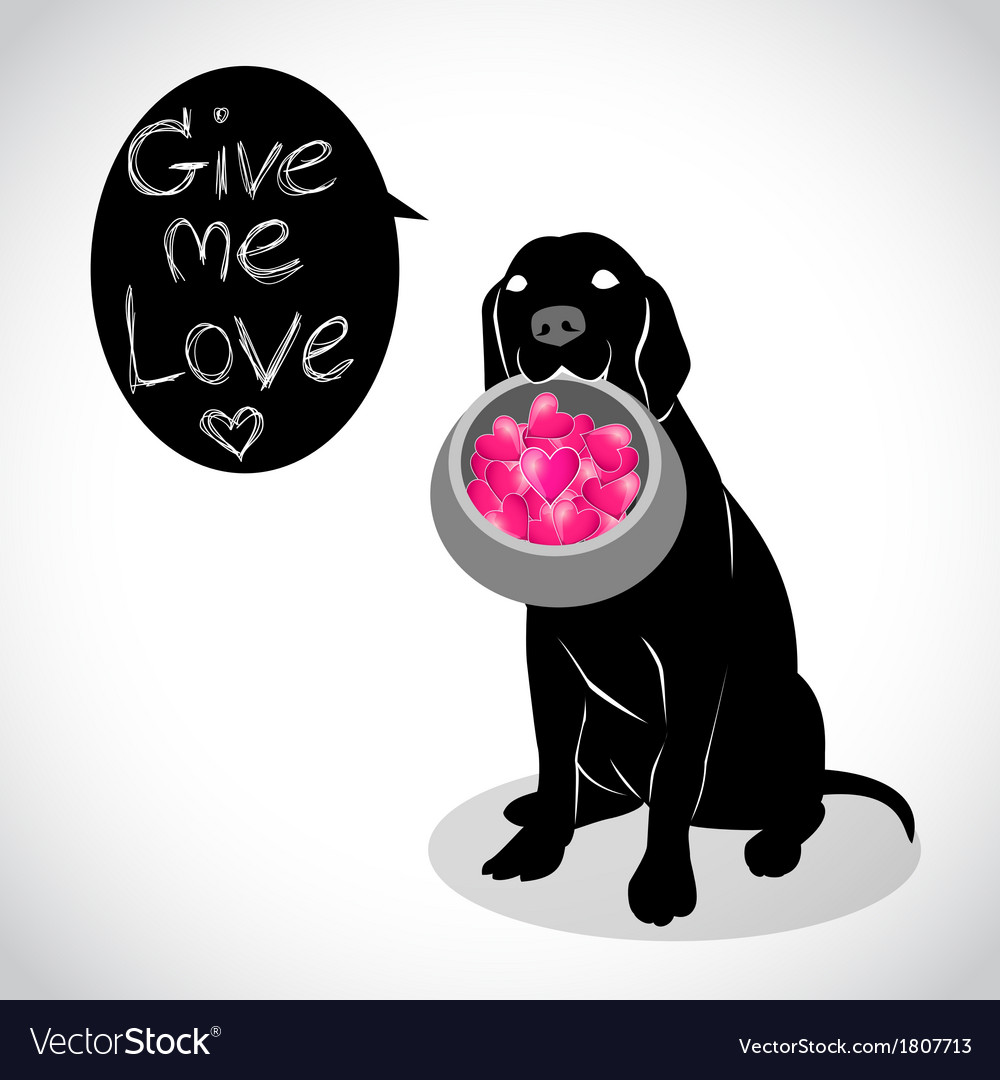 Valentine dog vector