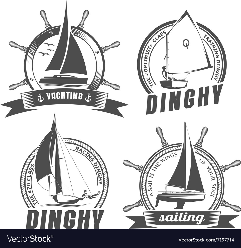 Set of logos for sailing vector