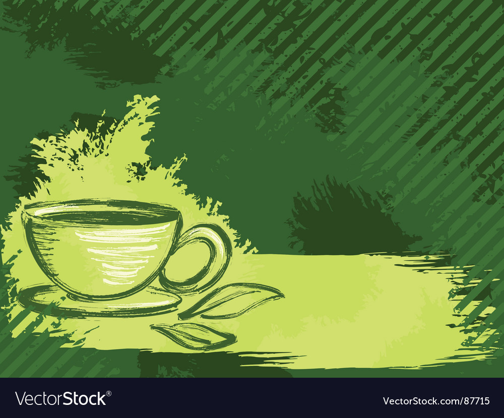 Grunge tea background vector