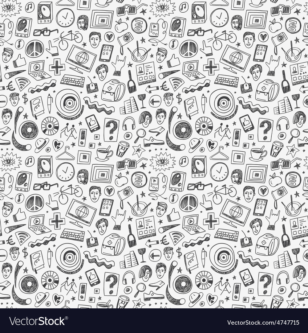 Hipsters seamless background vector