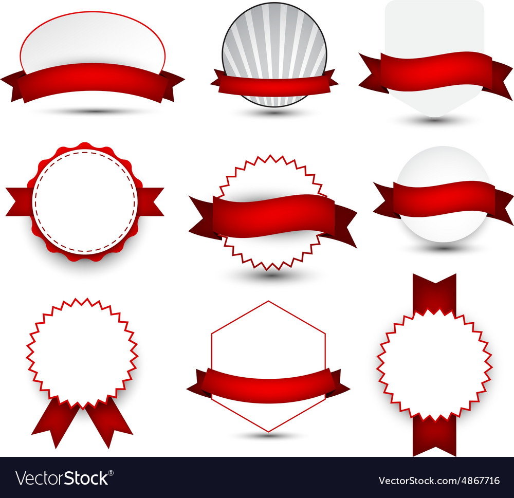 Collection of award badges vector
