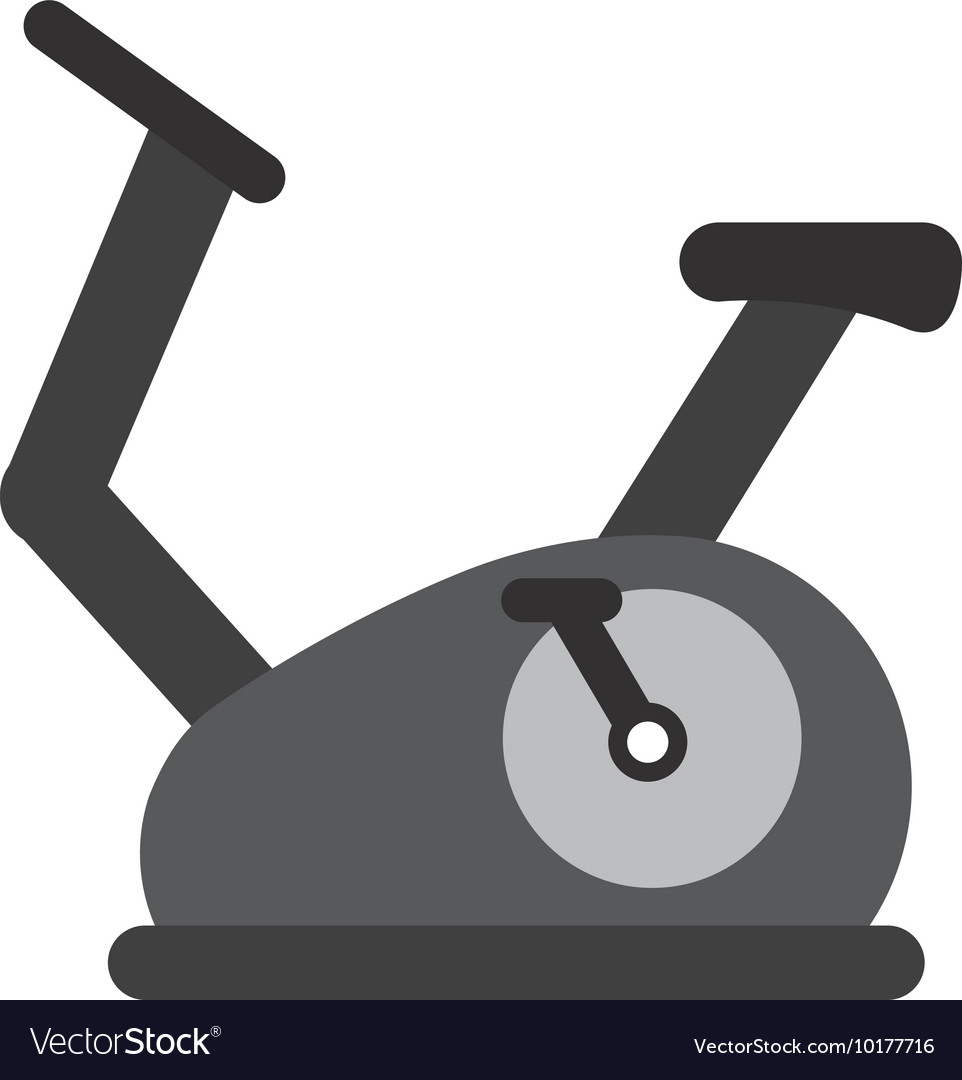 Spinning fitness machine icon vector