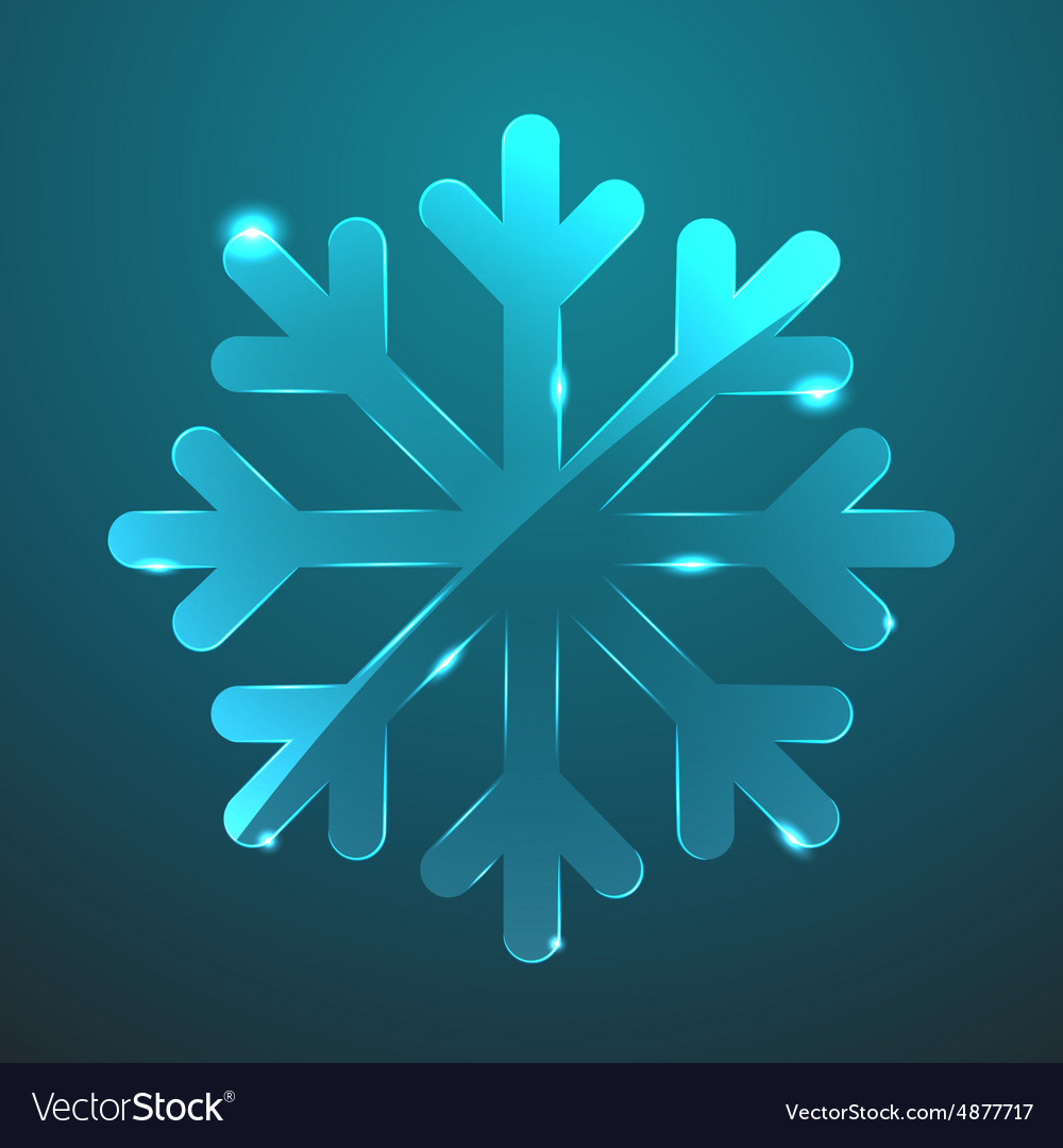 Glass snowflake icon eps10 vector