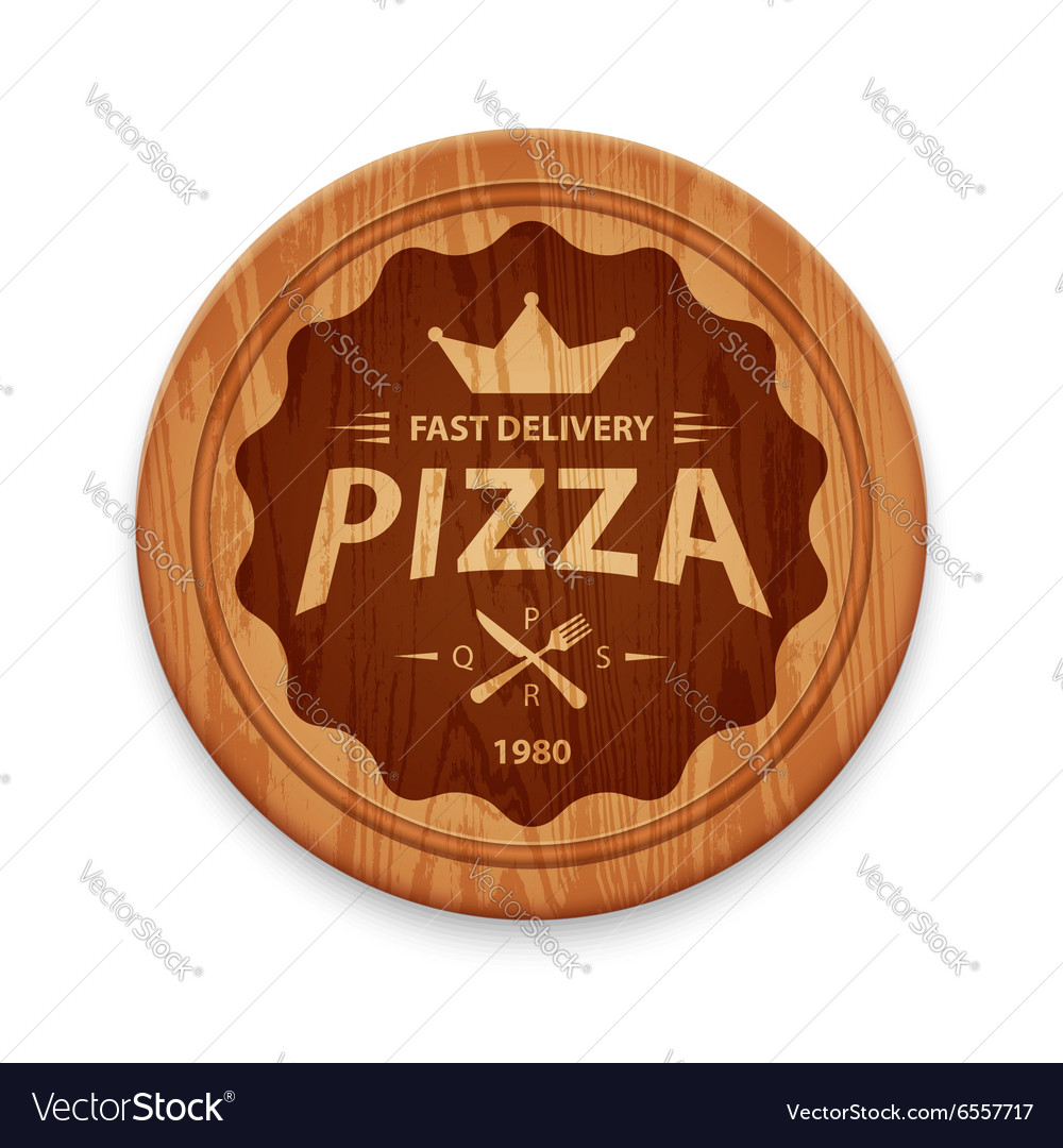 Pizza hipster badge vector