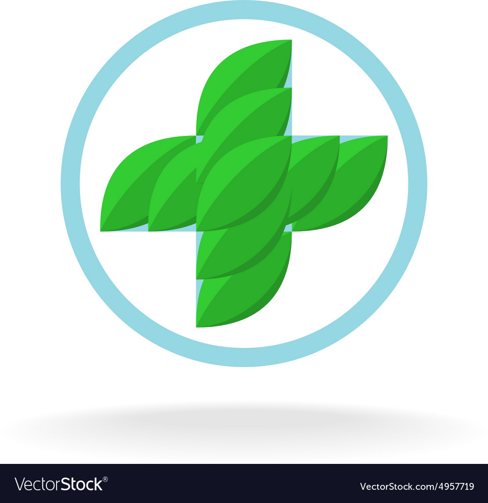 Medicine cross logo vector