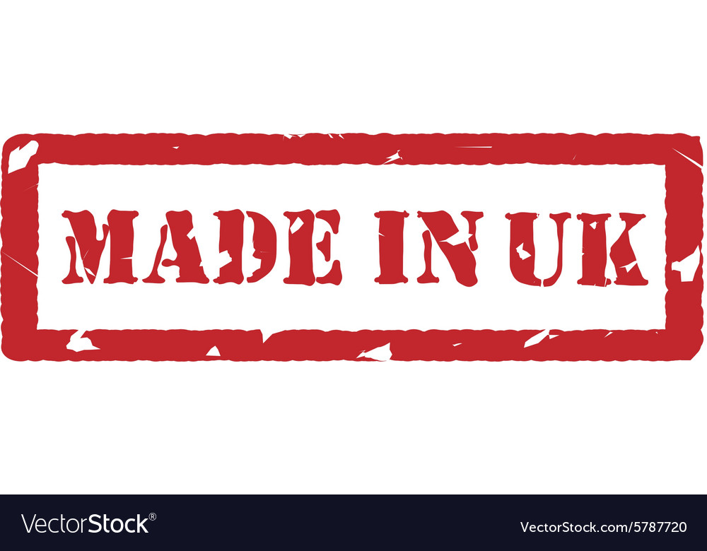 Made in uk vector