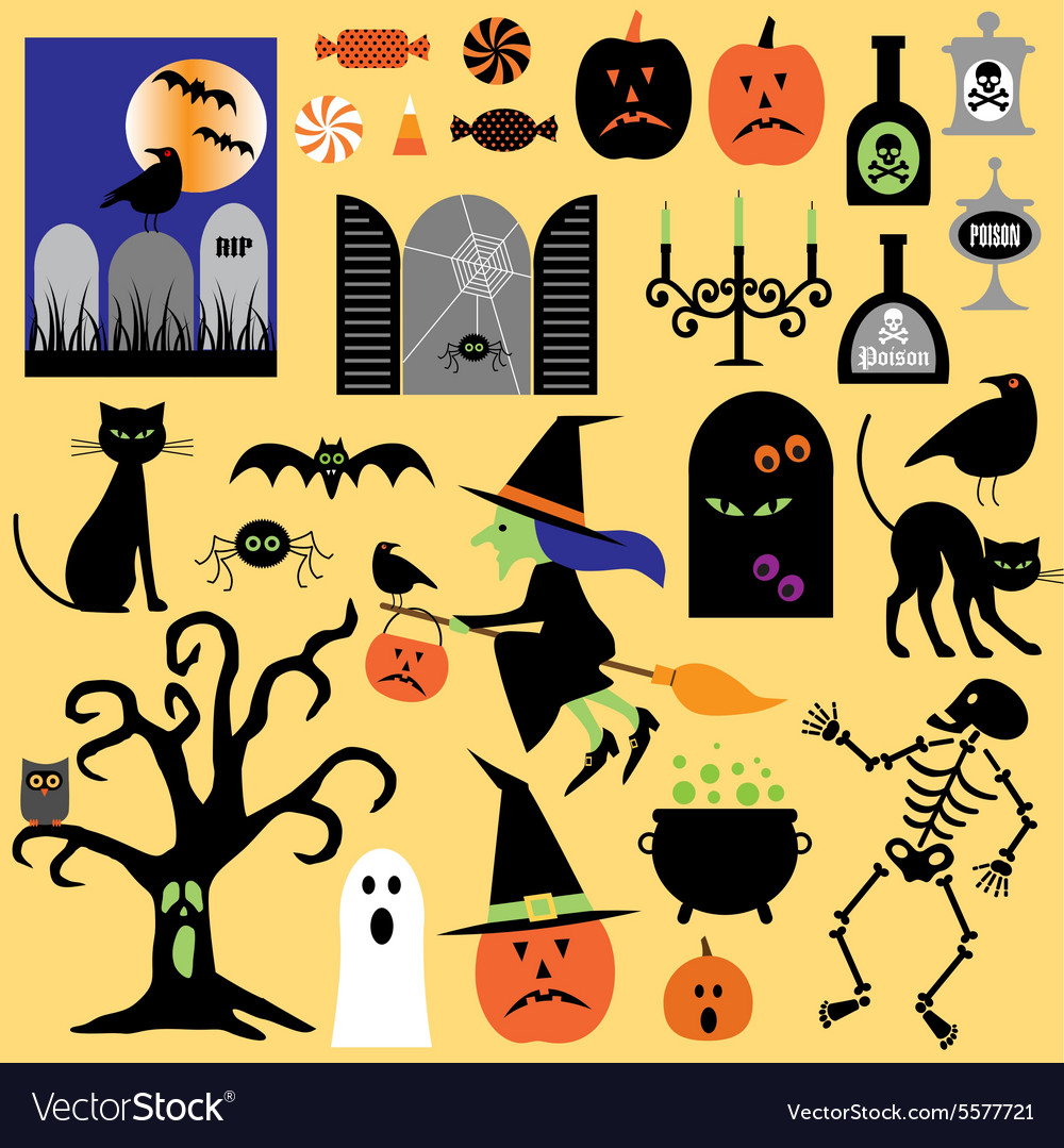 Halloween clipart vector
