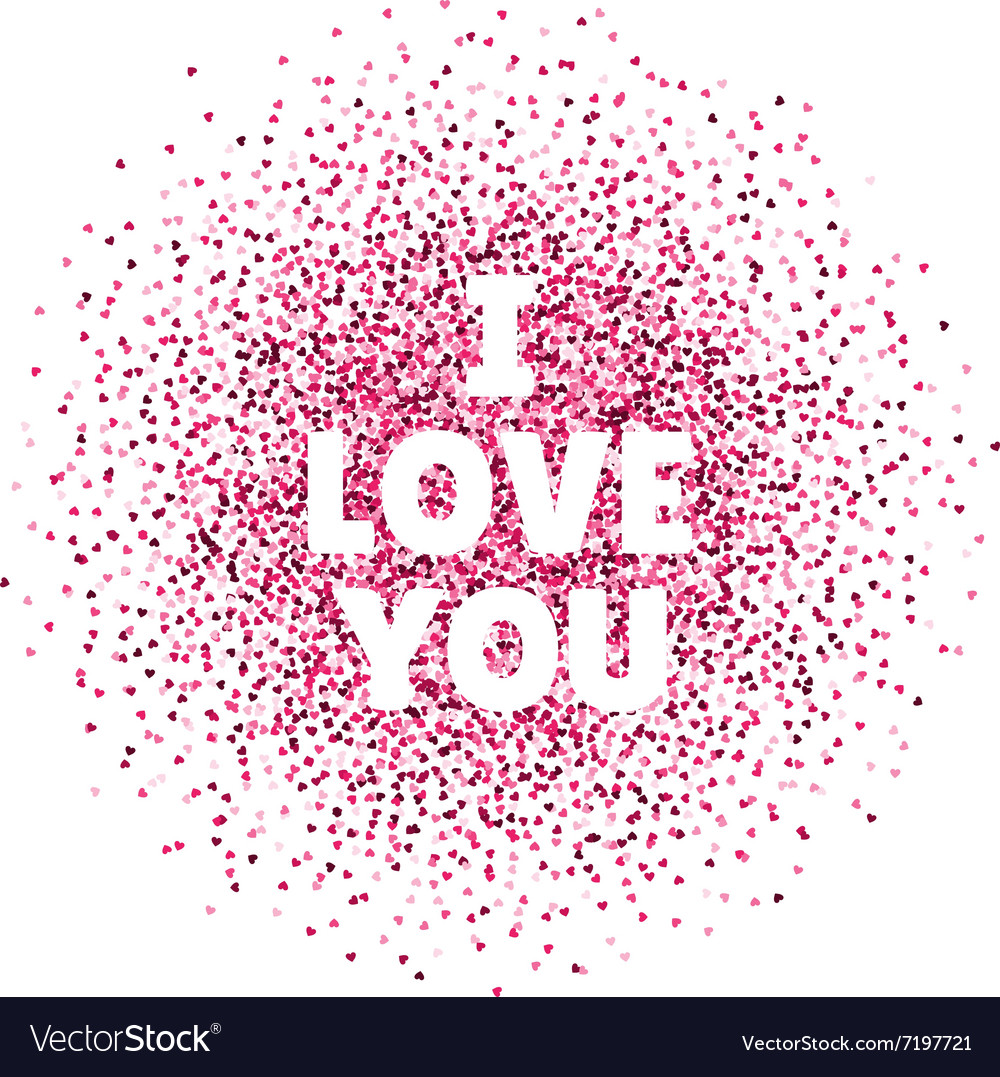 I love you valentines day card vector