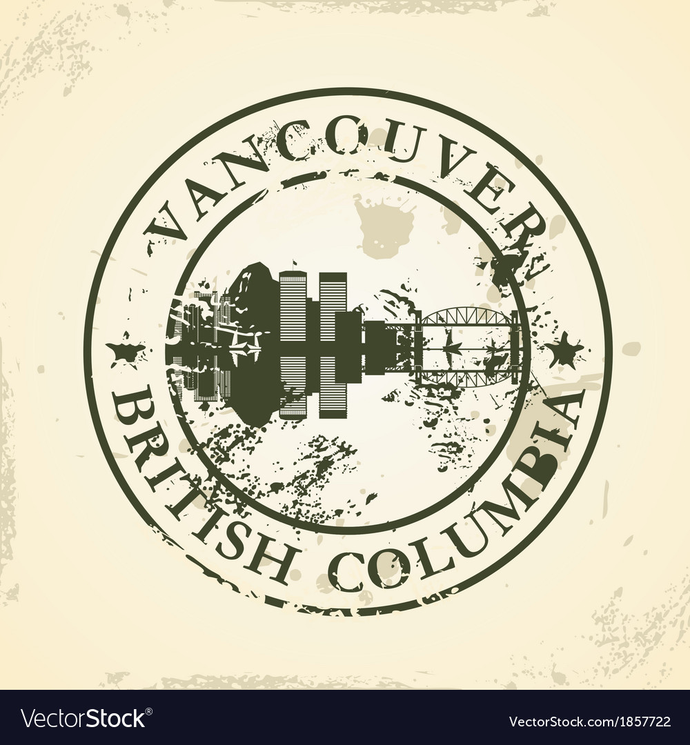 Grunge rubber stamp with vancouver british vector