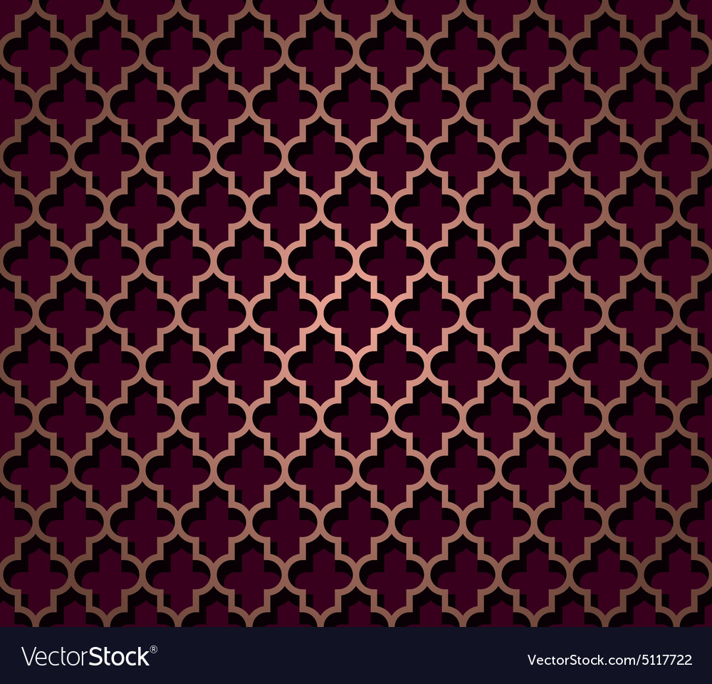 Oriental seamless pattern in brown color vector