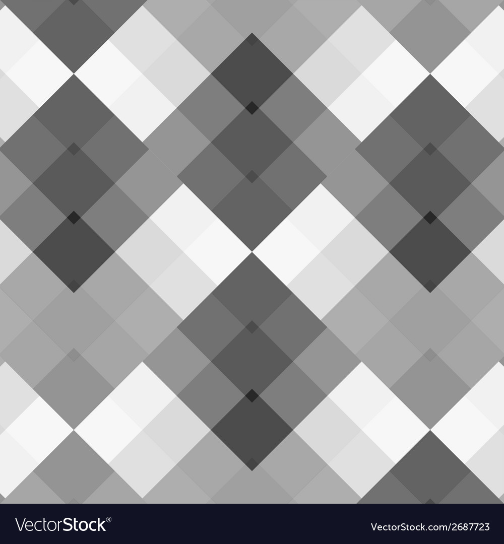 Monochrome gray seamless pattern geometric vector