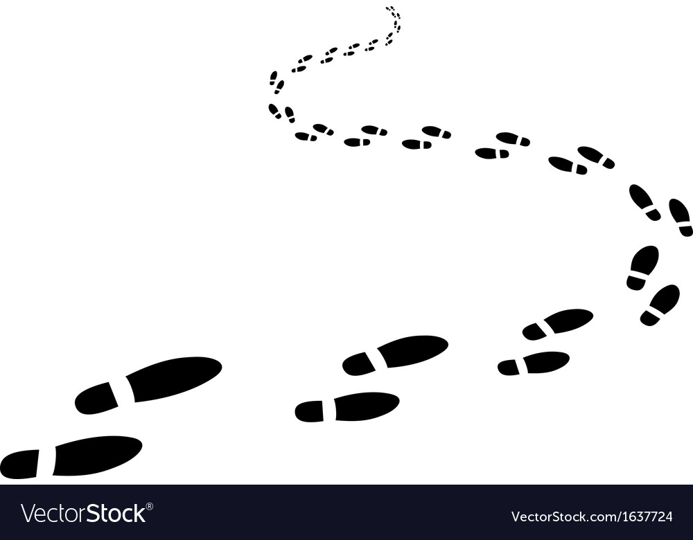 Footptints vector