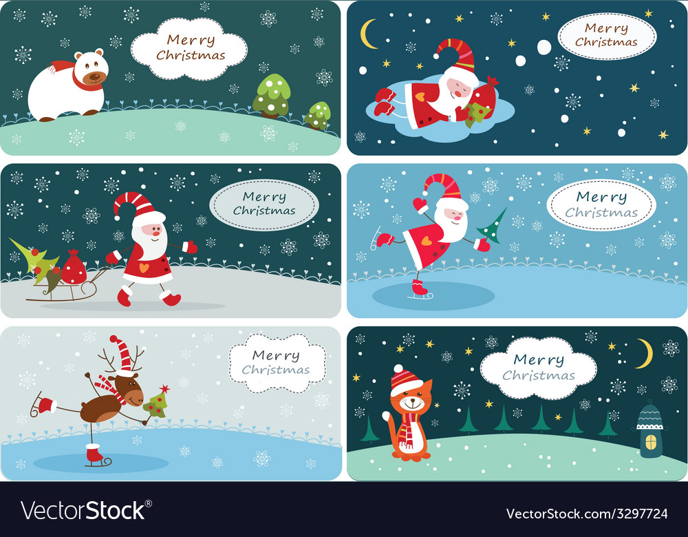 Set of christmas banners 2 vector