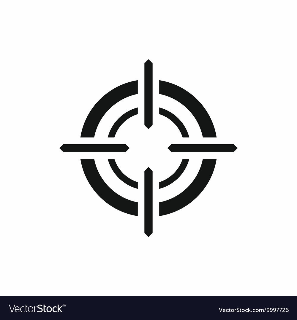 Target icon simple style vector
