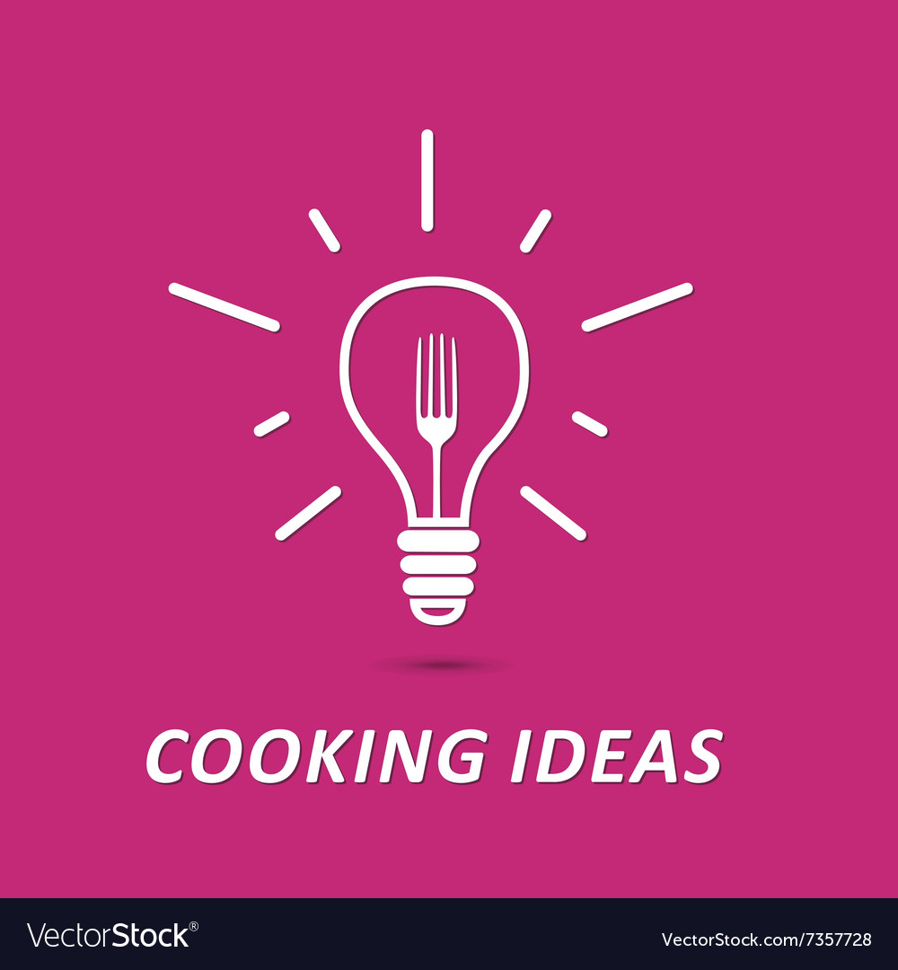 Cooking ideas symbol vector